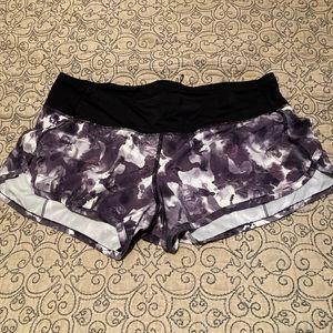Floral print lululemon running shorts